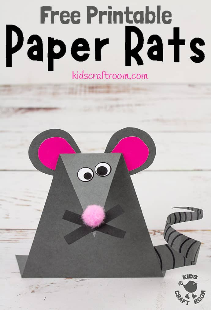 Paper Mouse Craft pin 1