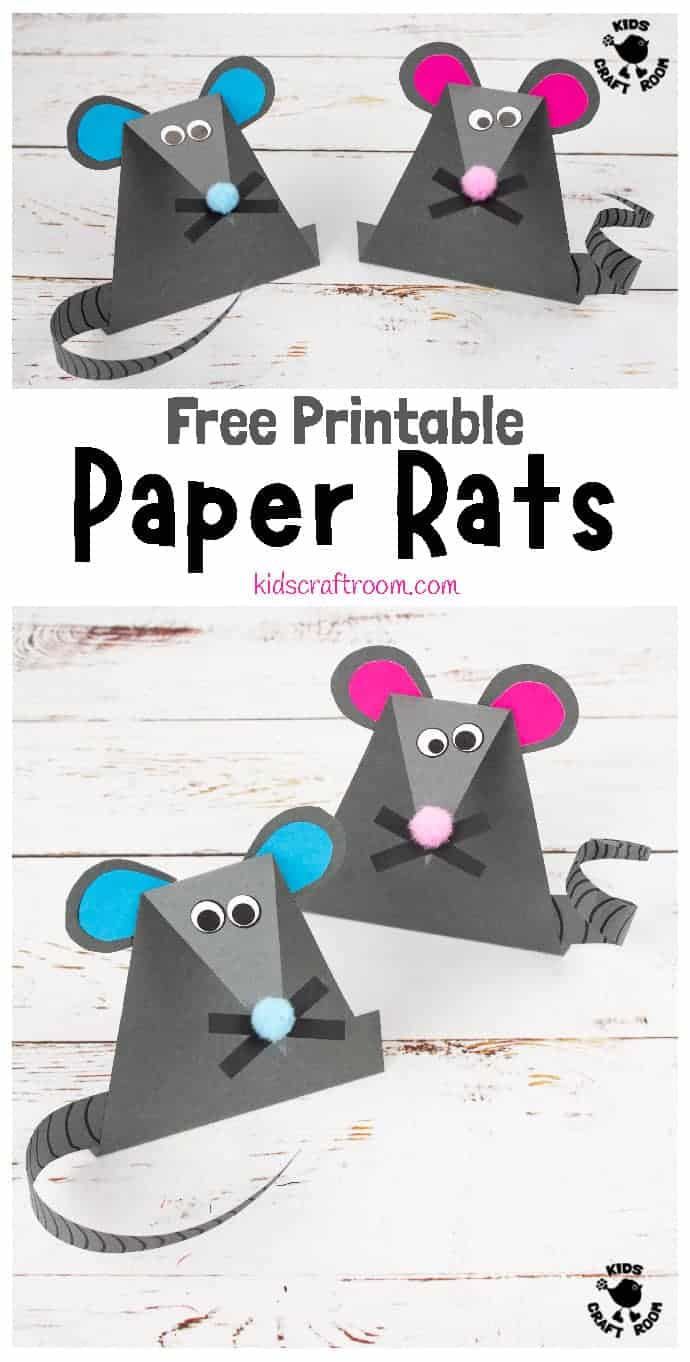 Paper Mouse Craft pin 3