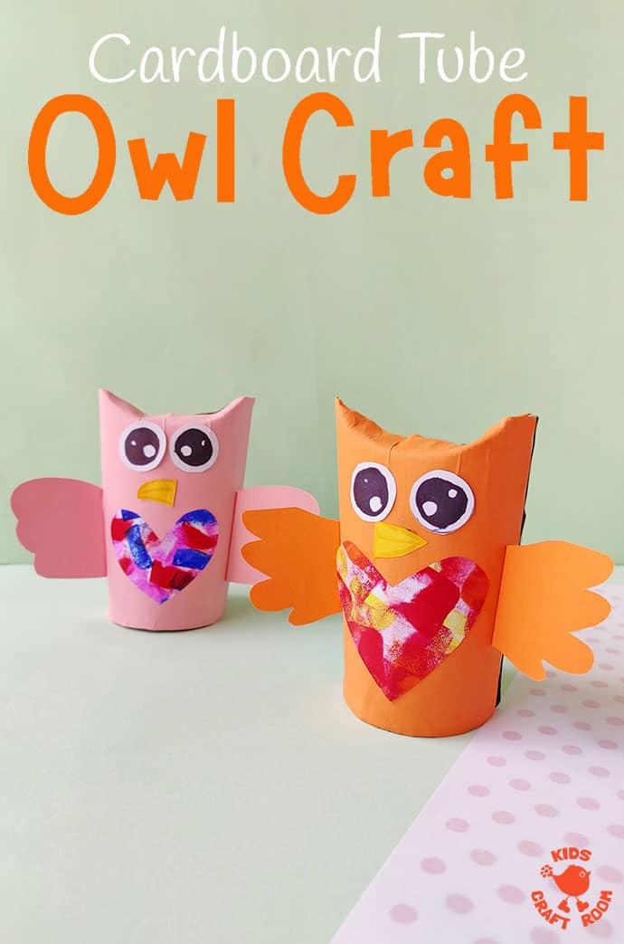 Cardboard Tube Owl Craft pin 1