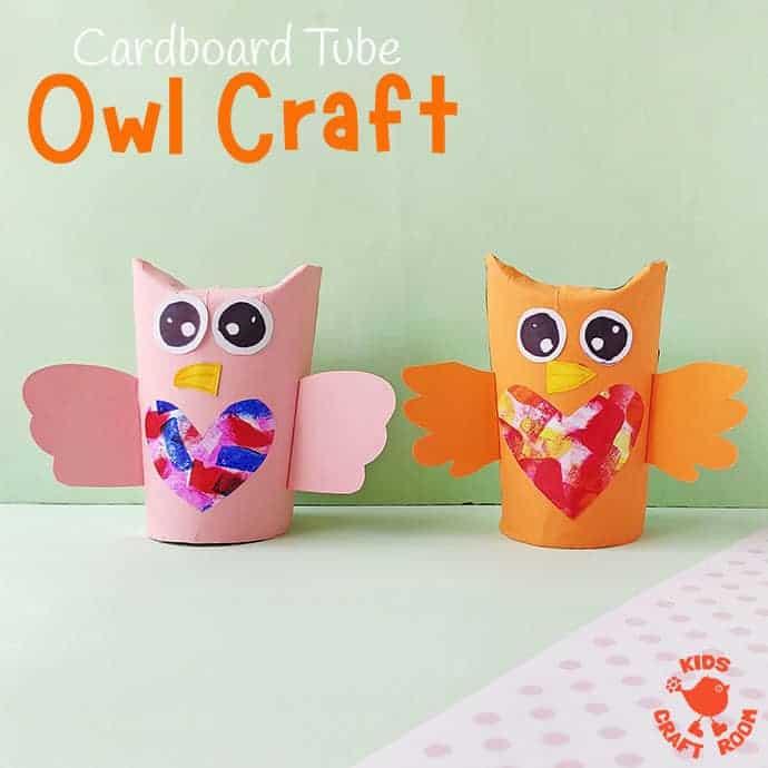 Cardboard Tube Owl Craft pin 2