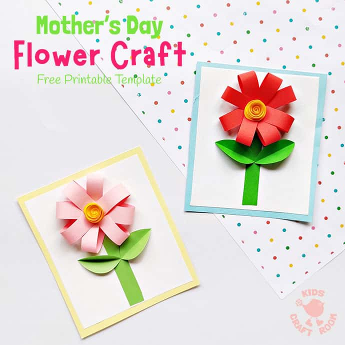 Easy Paper Flower Craft pin 2