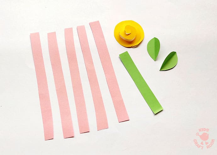Easy Paper Flower Craft step 1