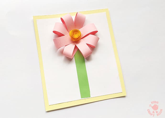 Easy Paper Flower Craft step 10