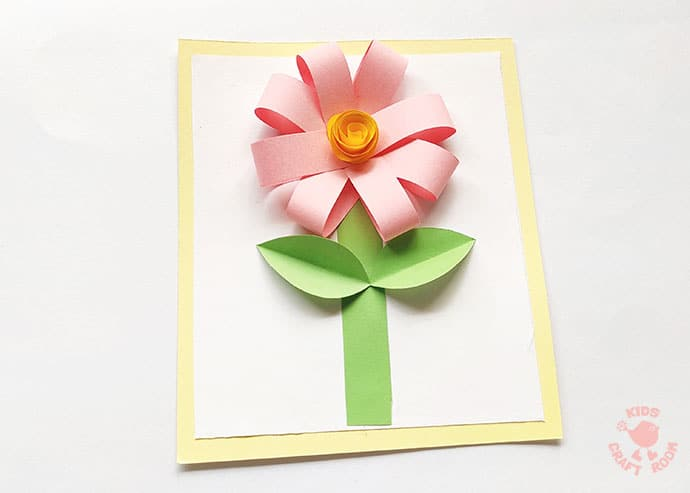 Easy Paper Flower Craft step 11