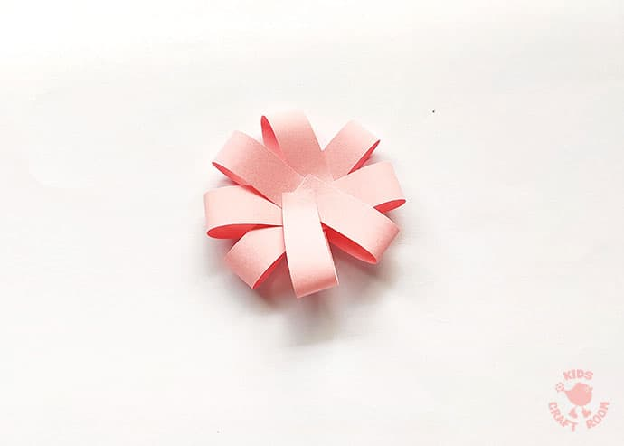 Easy Paper Flower Craft step 5