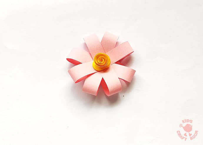 Easy Paper Flower Craft step 7