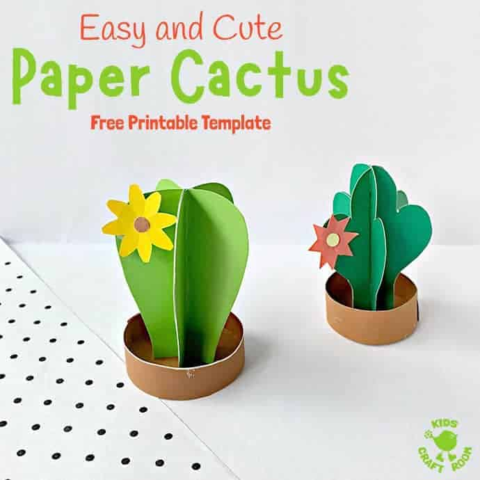 3D Paper Cactus Craft pin 2