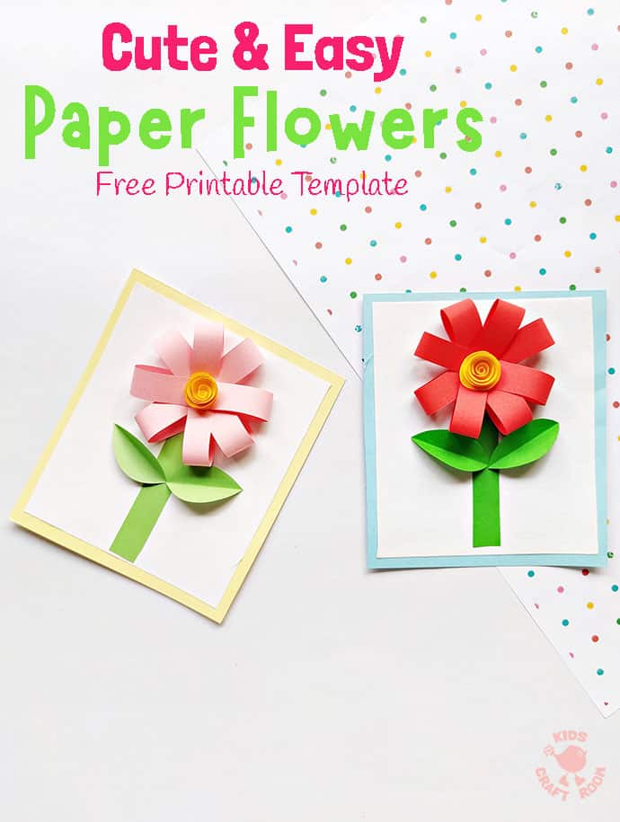 Easy Paper Flower Craft pin 3