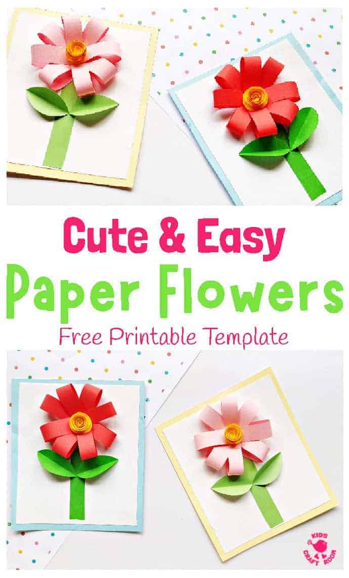 Easy Paper Flower Craft pin 1