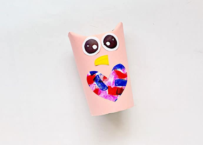 Cardboard Tube Owl Craft step 5