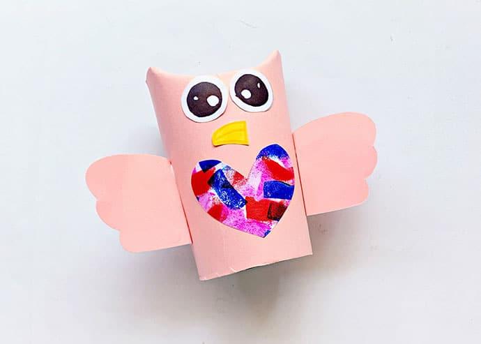 Cardboard Tube Owl Craft step 6
