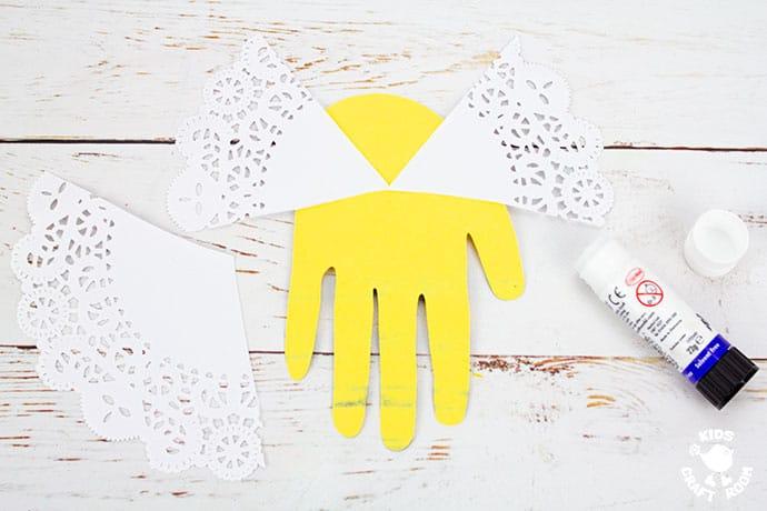 Handprint Bee Puppet Craft step 4
