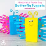 Paper Bag Butterfly Puppet Craft