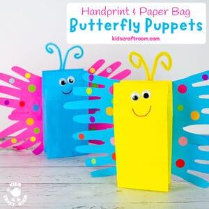 Paper Bag Butterfly Puppet Craft