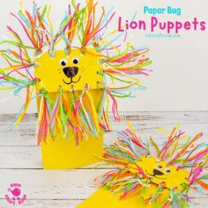 Paper Bag Lion Puppet Craft