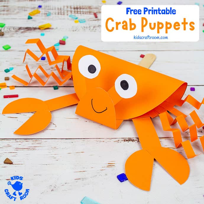Crab Puppet Craft image for Pinterest 2