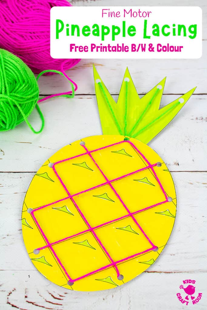 Lacing Pineapple Craft Kids Craft Room