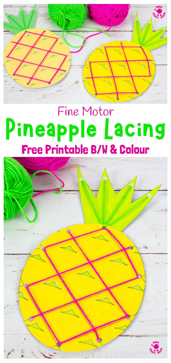 Lacing Pineapple Craft Image 1 For Pinterest