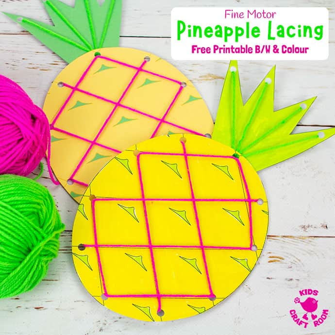 Lacing Pineapple Craft Image 2 For Pinterest