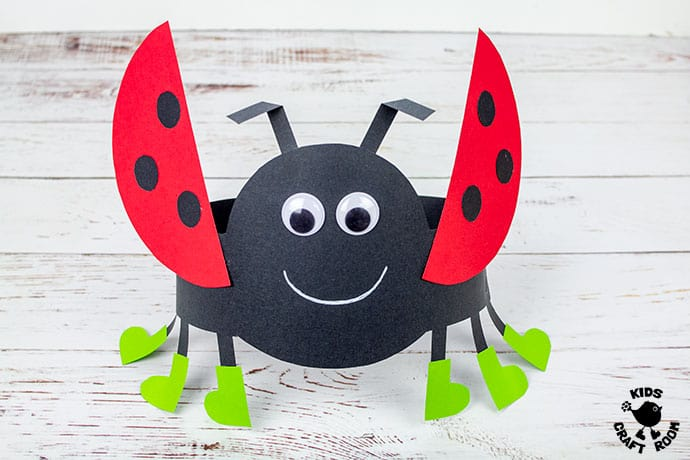 Ladybug Hat Craft step 9