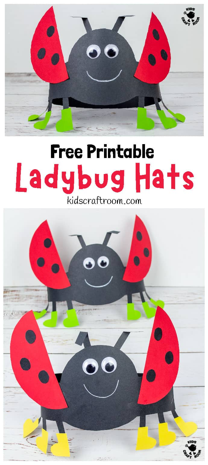 Ladybug Hat Craft pin 1