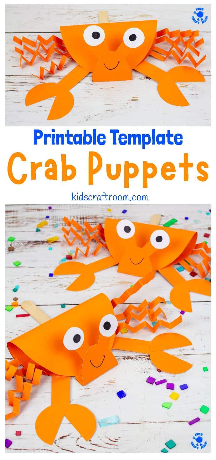 Crab Puppet Craft pin 1