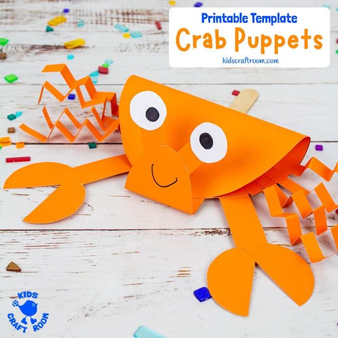 Crab Puppet Craft pin 2
