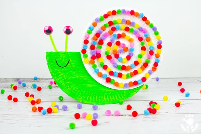 Rocking Paper Plate Snail Craft pin 1