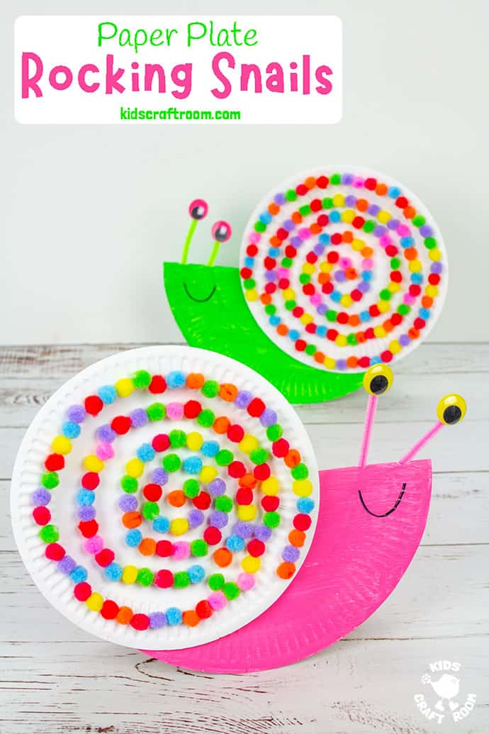 Rocking Paper Plate Snail Craft pin 2
