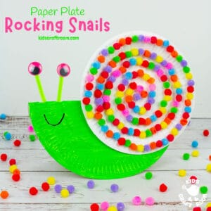 Rocking Paper Plate Snail Craft