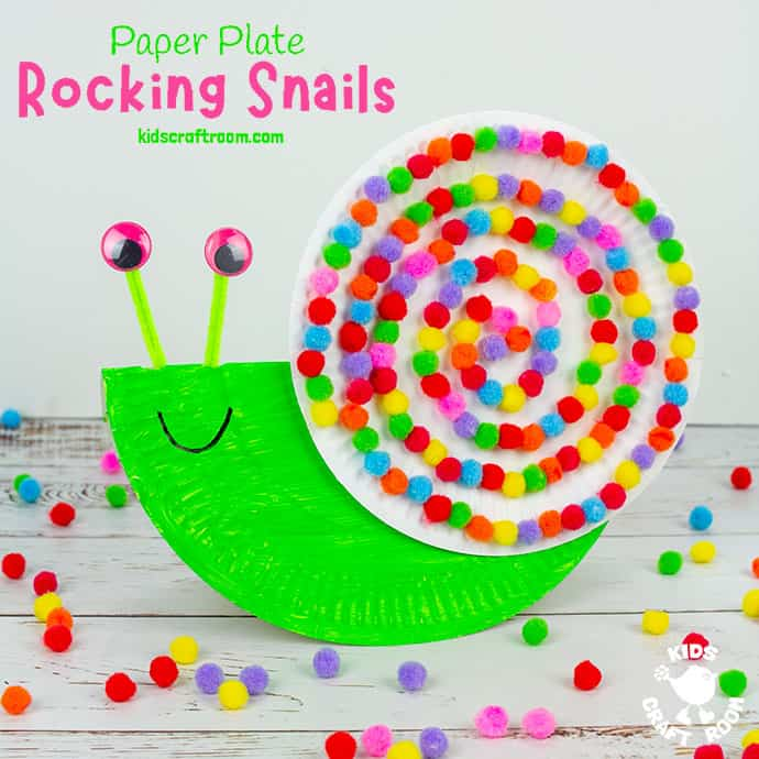 Rocking Paper Plate Snail Craft pin 3