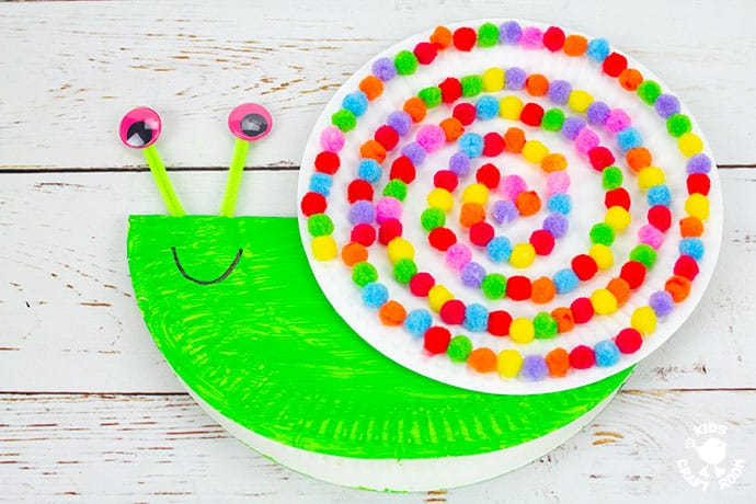 Rocking Paper Plate Snail Craft step 7