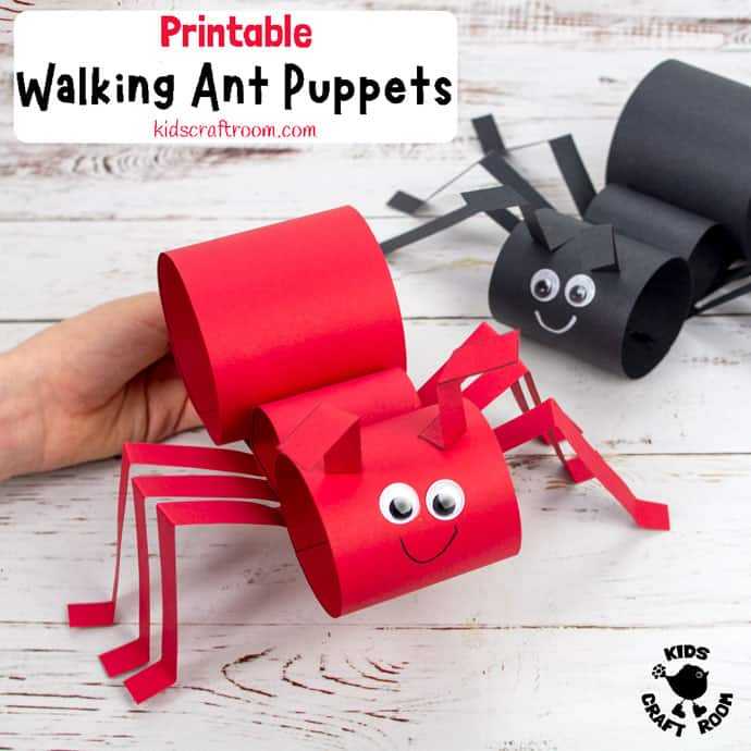 Walking Ant Puppet Craft PIN 2
