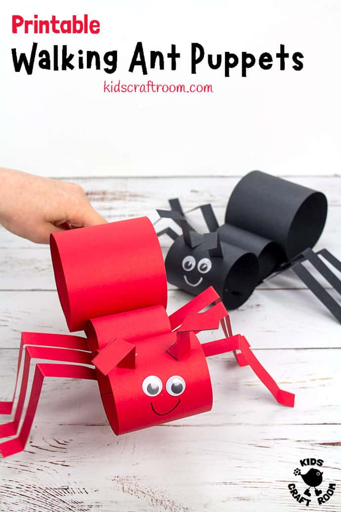 Walking Ant Puppet Craft PIN 3