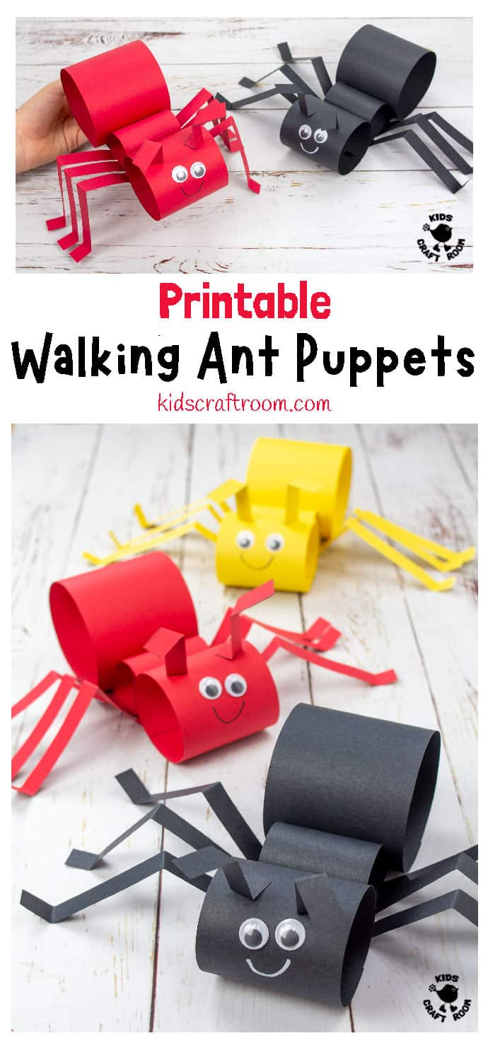 Walking Ant Puppet Craft PIN 1