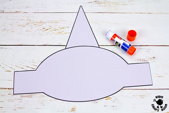 Shark Hat Craft step 3