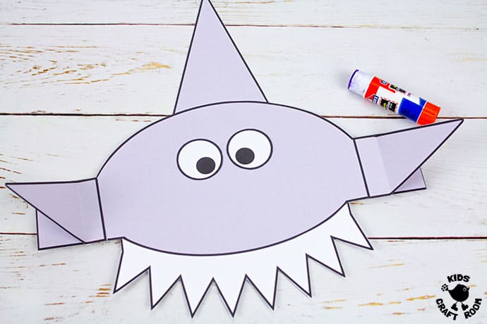 Shark Hat Craft step 5