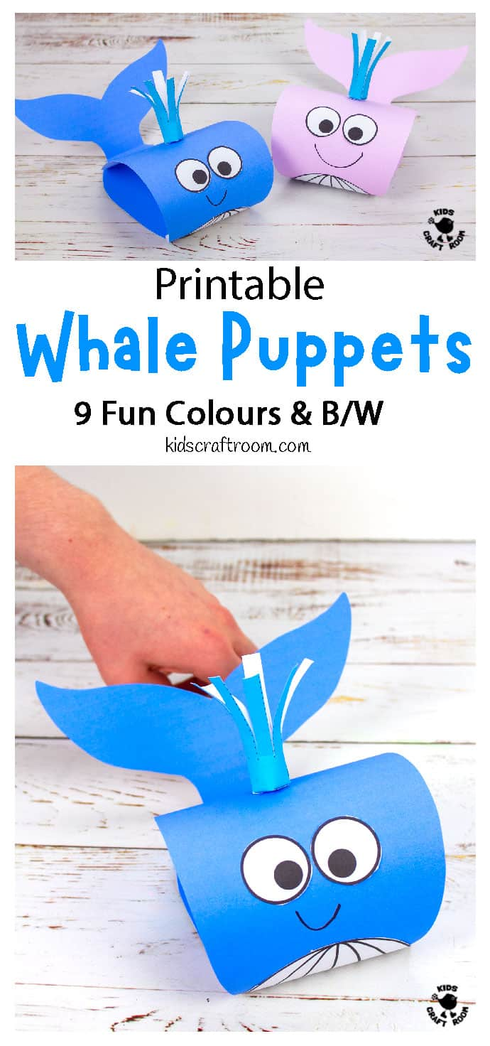 Whale Puppet Craft pin image 1