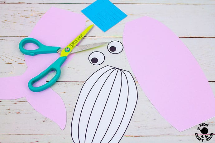Whale Puppet Craft step 3