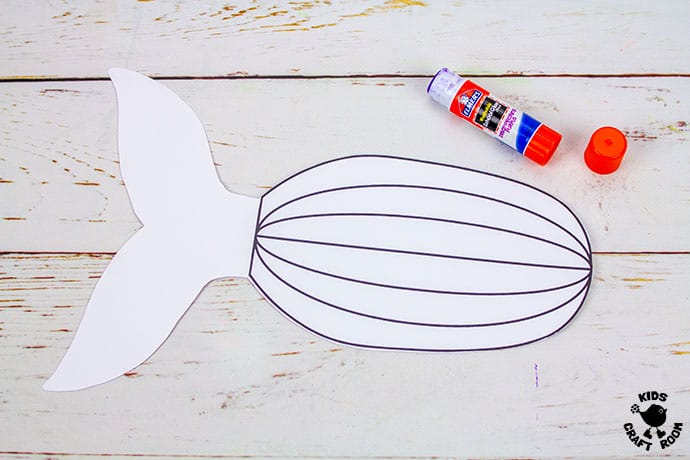 Whale Puppet Craft step 4