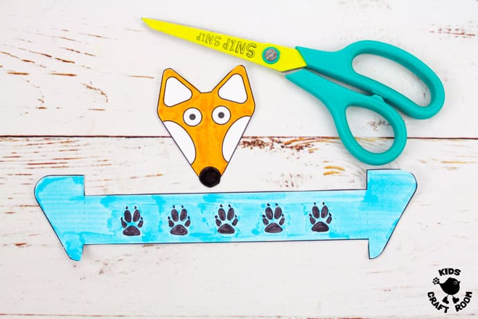 Printable Paper Fox Bracelets step 2