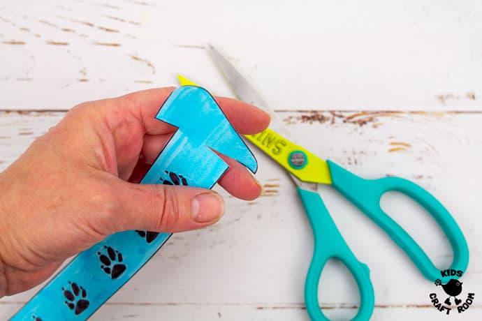 Printable Paper Fox Bracelets step 3
