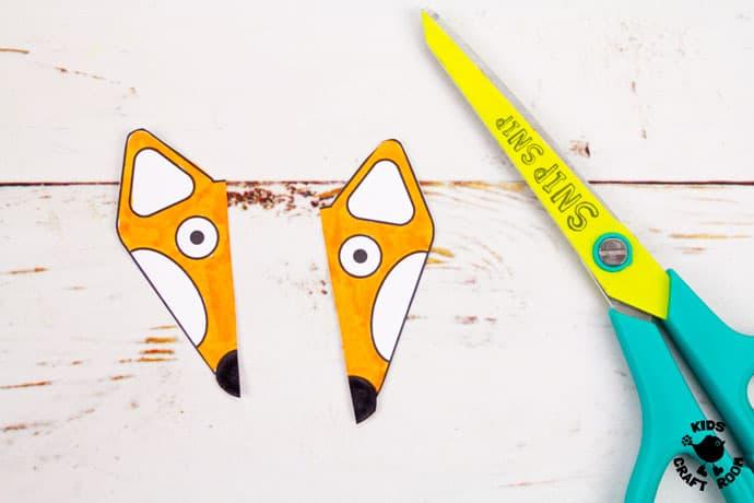 Printable Paper Fox Bracelets step 4