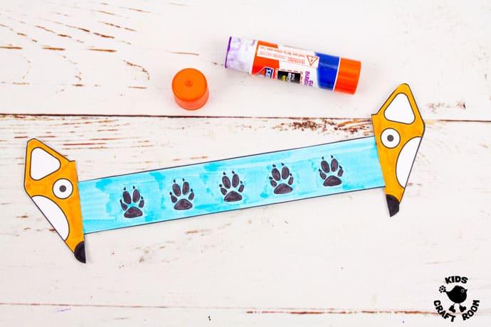 Printable Paper Fox Bracelets step 5