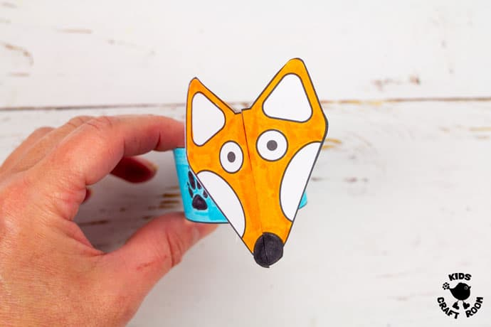 Printable Paper Fox Bracelets step 6