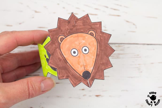 Hedgehog Paper Bracelets step 7