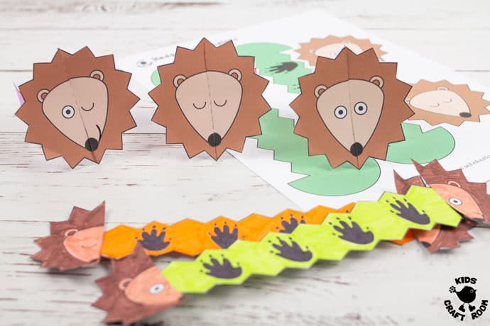 Hedgehog Paper Bracelets step 8