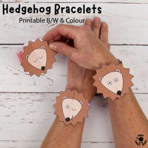Hedgehog Paper Bracelets