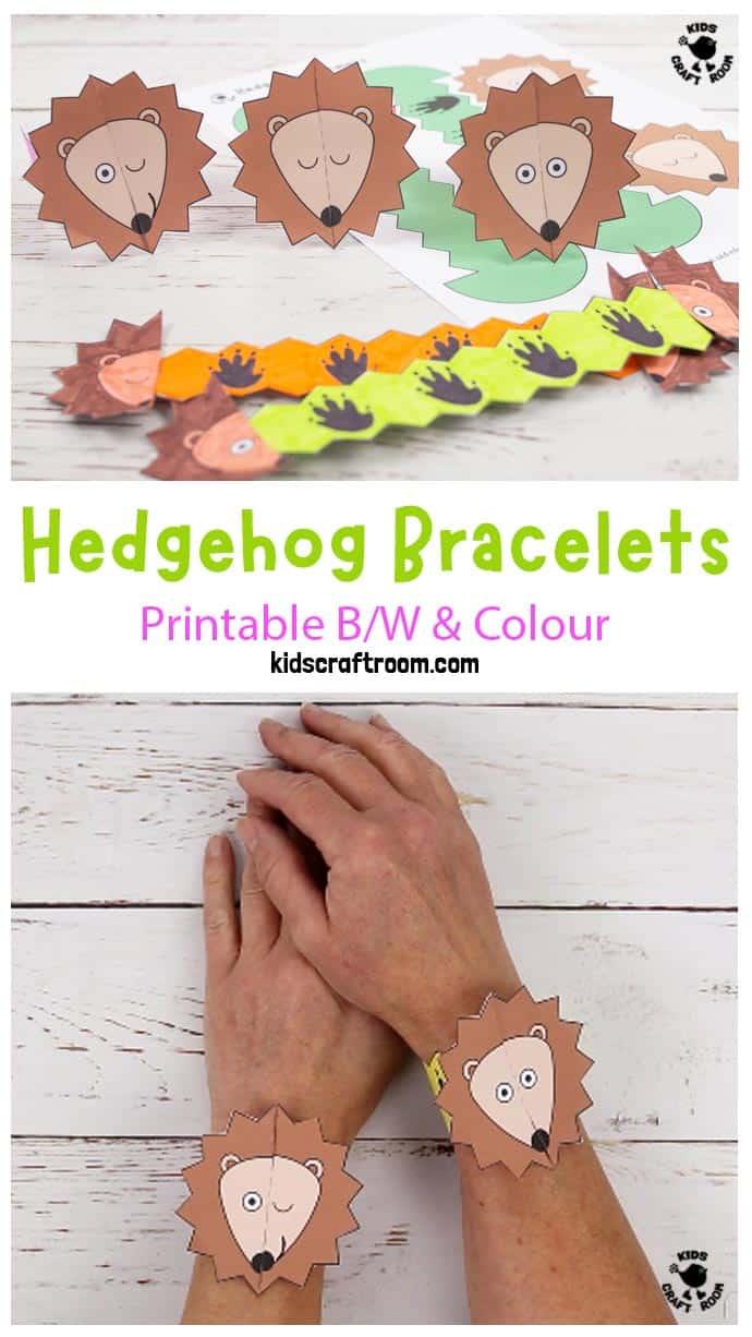 Hedgehog Paper Bracelets pin image 3