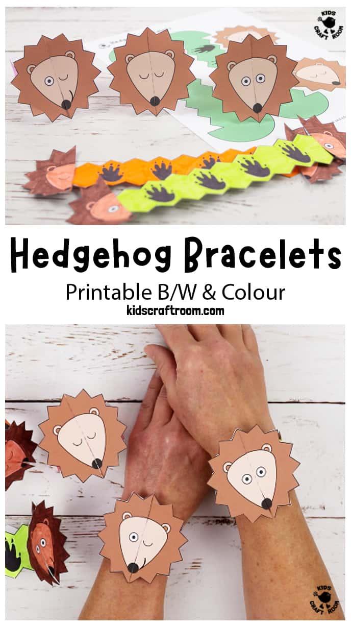 Hedgehog Paper Bracelets pin image 1